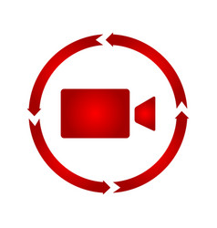 camcorder turn icon vector image