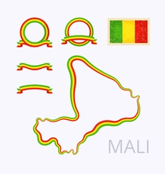 Colors of Mali vector image vector image