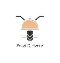 food delivery logotype like motor scooter vector image