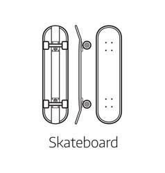 modern skateboard desk vector image vector image