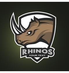 Rhino sports logo emblem vector image vector image