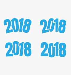 2018 sign of new year vector image