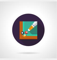Billiards tournament flat round icon vector