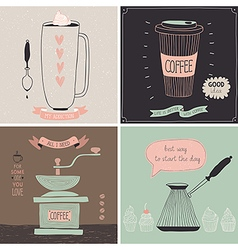 Coffee cards vector image
