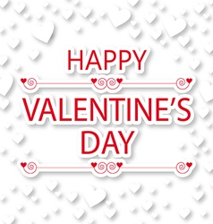 Happy Valentines Day greeting card with hearts vector image vector image