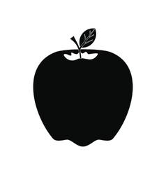 Apple icon black vector image