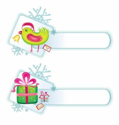 cute Christmas buttons vector image vector image