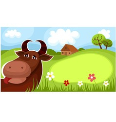 farm card vector image vector image
