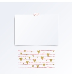 Mock up template of greeting card vector image