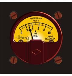 old-fashioned ampermeter vector image