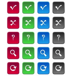 square web buttons vector image