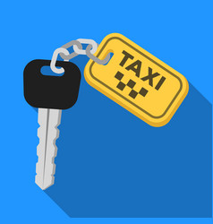 the ignition key for a yellow taxi taxi station vector image