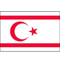 turkish republic of northern cyprus flag vector image