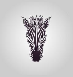 zebra logo icon design vector image