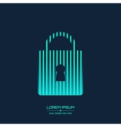 Creative concept icon of padlock for Web vector image