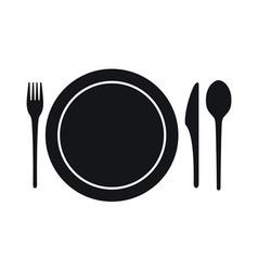Disposable tableware icon vector