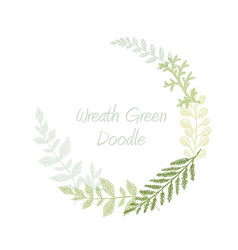 greenery scribble hand drawn herb border vector image
