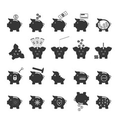 piggy bank symbol of money finance investment vector image vector image