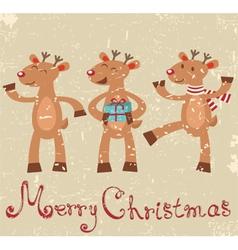 Reindeers Christmas card vector image vector image