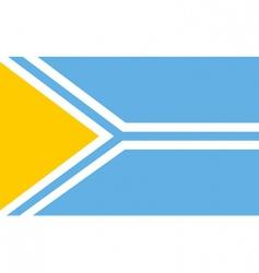tuva flag vector image vector image