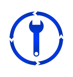 wrench turn icon vector image