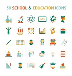 30 education icons vector image