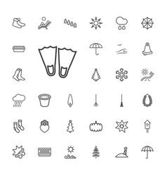 33 season icons vector image