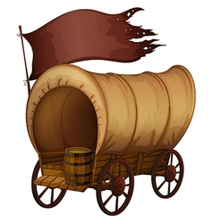 A wooden carriage vector