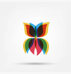 abstract butterfly shape vector image