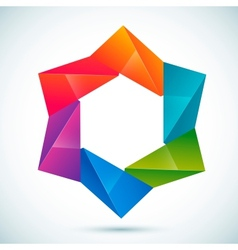abstract shape - star vector image