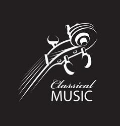 Abstract violin icon vector