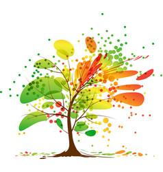 art autumn tree vector image