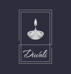 Badge happy diwali design vector