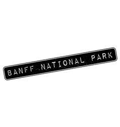 Banff National Park rubber stamp vector