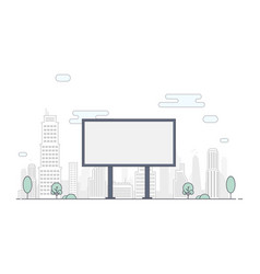 billboard on background city flat line vector image