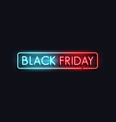 black friday neon banner 3 vector image