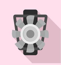 Car motor ventilator icon flat style vector
