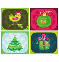 Christmas cards sets vector image
