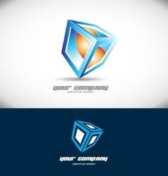 Cube 3d logo design vector image