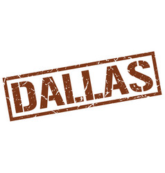 Dallas brown square stamp vector