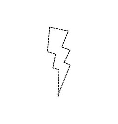 Dotted shape thunder weather patch style design vector