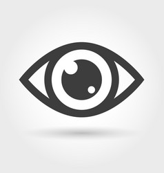 eye icon isolated on white vector image