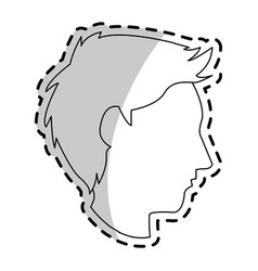 Faceless man profile icon image vector