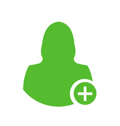 Female medical doctor icon with medical aid cross vector