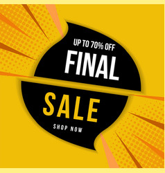 final sale banner up to 70 off vector image