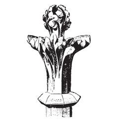 Finial spoons vintage engraving vector