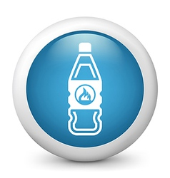 Flammable bottle glossy icon vector image