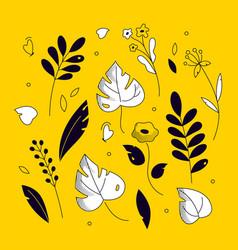 floral ornament - modern flat design style vector image