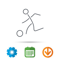 football icon soccer sport sign vector image