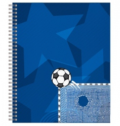 football soccer background vector image